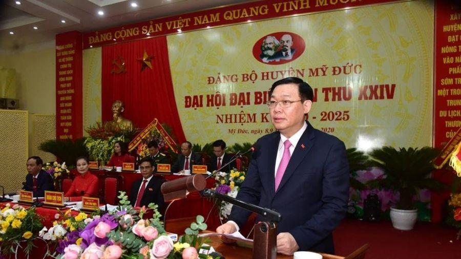 Bí thư Thành ủy Hà Nội Vương Đình Huệ: Huyện Mỹ Đức thực hiện 'mục tiêu kép' hiệu quả