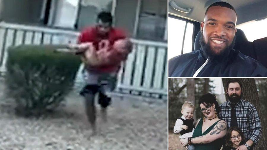 Cựu cầu thủ tóm gọn bé 3 tuổi rơi xuống từ căn nhà cháy