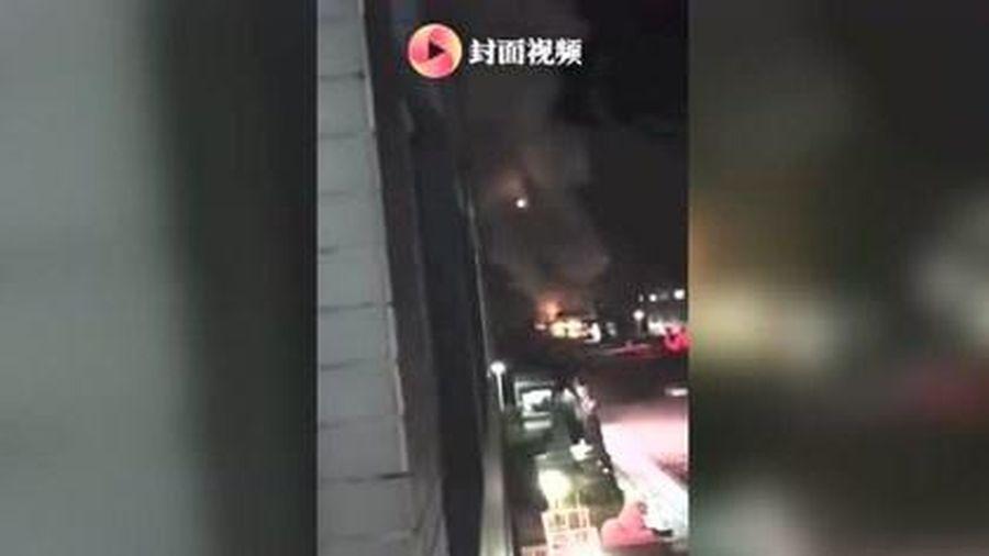 Nhà máy ở Trung Quốc phát nổ dữ dội trong đêm