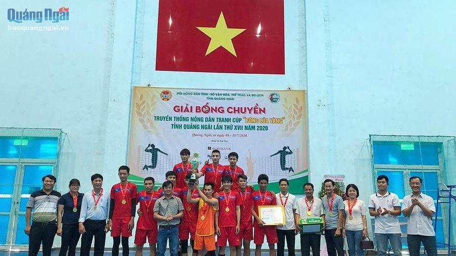 Bình Sơn đoạt cúp 'Bông lúa vàng' năm 2020
