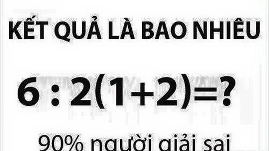 Cùng giải bài toán tiểu học 90% người trả lời sai