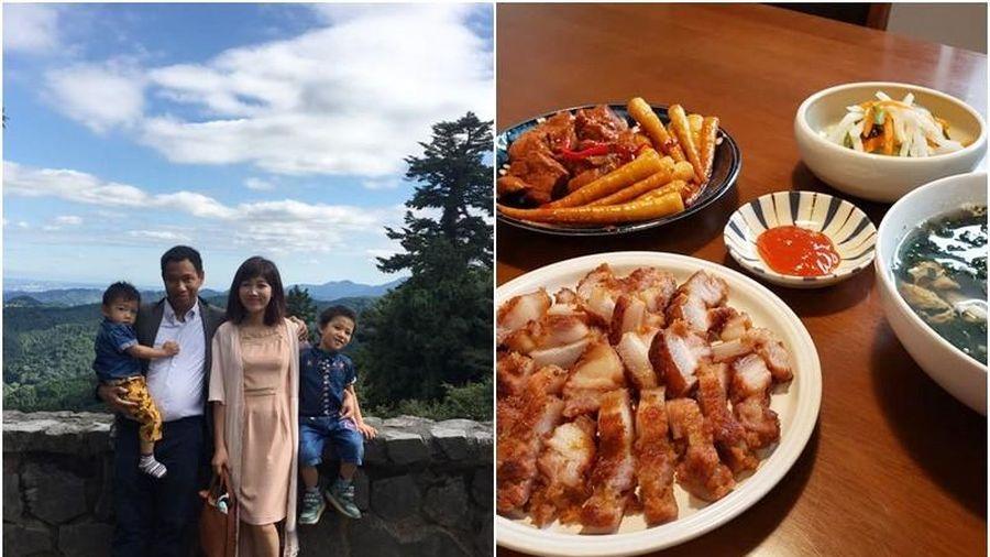 Mâm cơm đậm vị quê hương của bà nội trợ người Việt sống tại Nhật