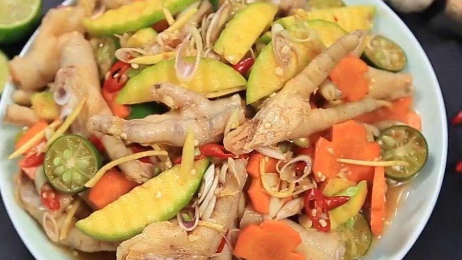 Học làm chân gà sả ớt xoài xanh nhâm nhi bữa tối