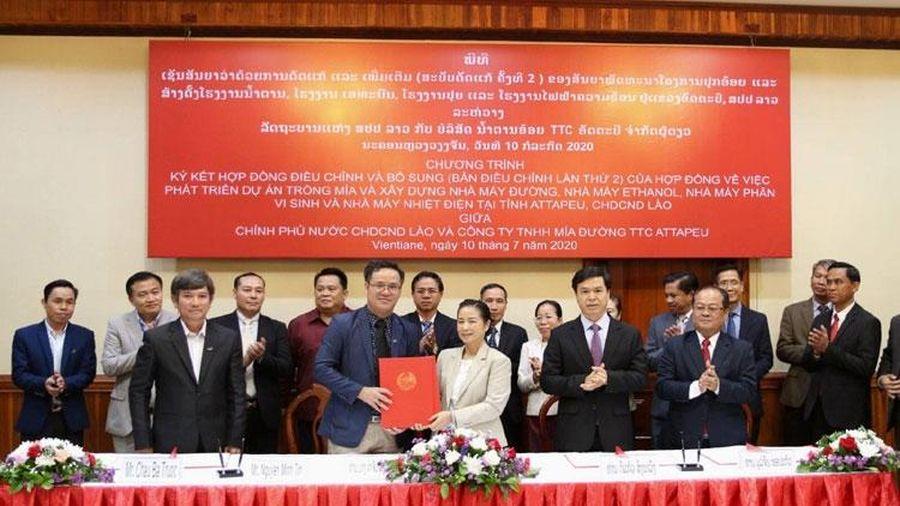 TTC Sugar tiếp tục mở rộng vùng nguyên liệu trồng mía organic tại Attapeu (Lào)