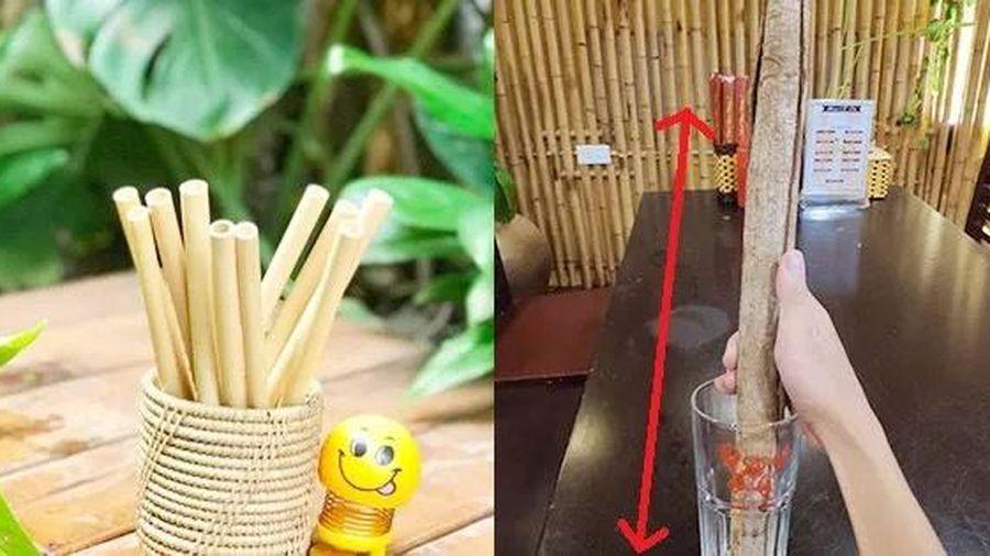 Đặt mua ống hút tre nhỏ như điếu thuốc lá, chàng trai 'giận tím mặt' khi nhận về sản phẩm to bự như điếu cày