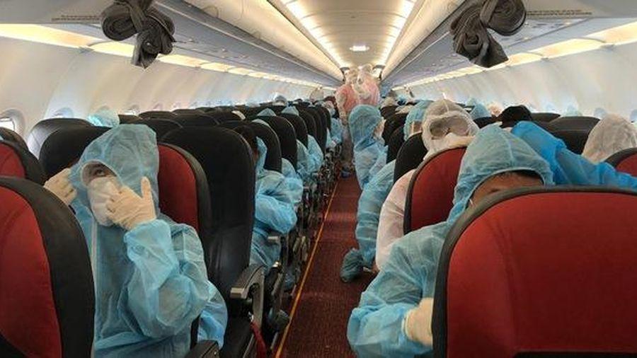 Liên tiếp các chuyên bay đưa công dân Việt Nam từ các nước châu Âu, châu Phi, châu Á về nước