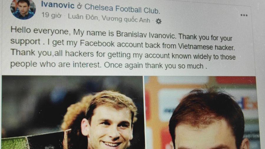 Người giữ Facebook của Ivanovic đăng tin giả khiến trang mất tick xanh