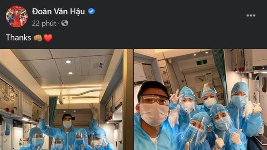 Đoàn Văn Hậu nói lời cảm ơn sau khi trở về Việt Nam