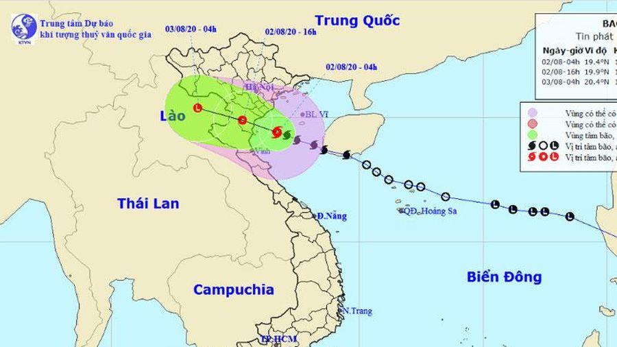 Bão số 2 gây mưa lớn ở các tỉnh từ Thanh Hóa đến Quảng Bình
