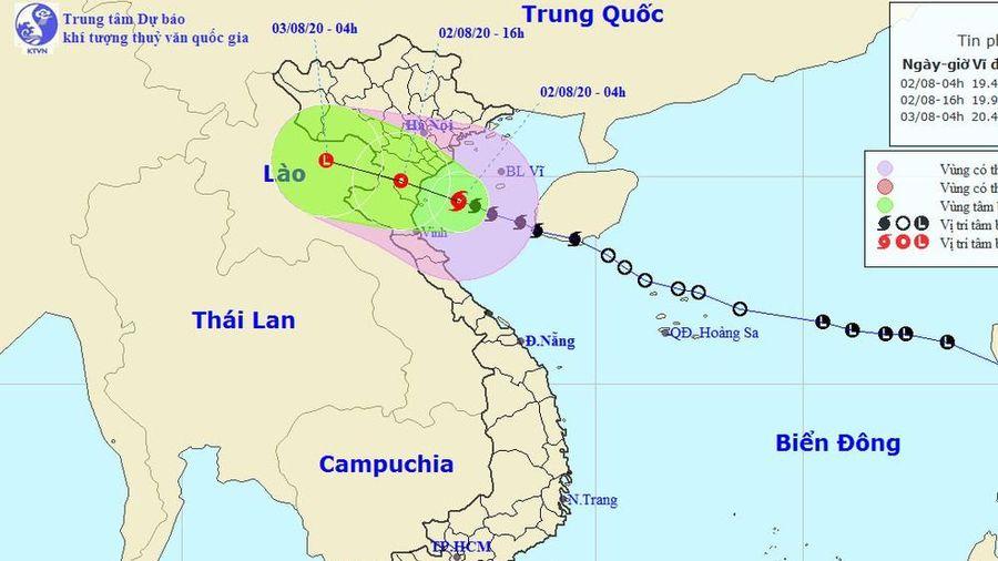 Tin khẩn cấp về cơn bão số 2 đang đi vào khu vực Thái Bình - Nghệ An