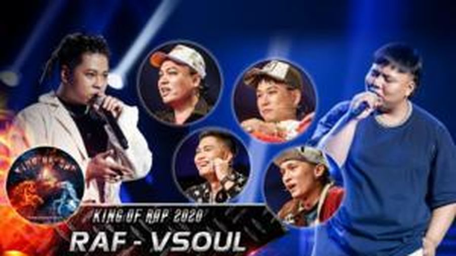 Đối lập style trình diễn: RAF - VSoul thuyết phục 'bộ sậu' quyền lực King Of Rap nhận 4 chọn huy hoàng