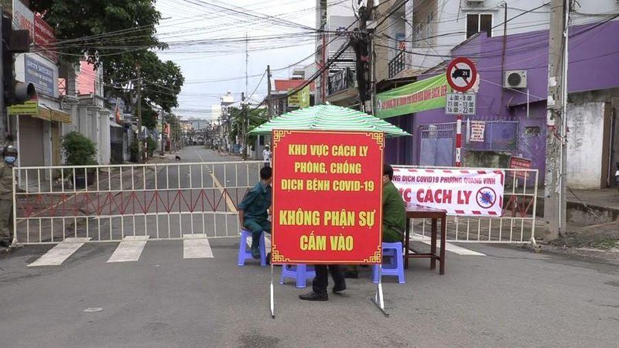Phong tỏa tuyến đường có gần 200 hộ dân ở Đồng Nai do COVID-19