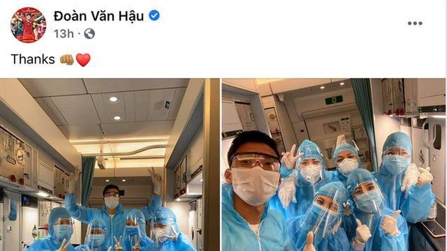Văn Hậu nói lời cảm ơn sau khi trở về Việt Nam