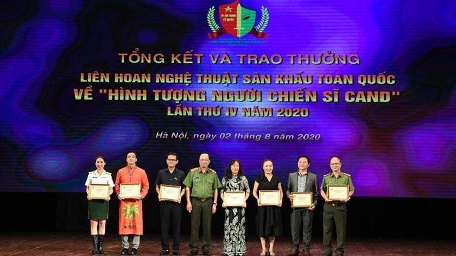 Trao giải Liên hoan nghệ thuật về 'Hình tượng người chiến sĩ Công an nhân dân'