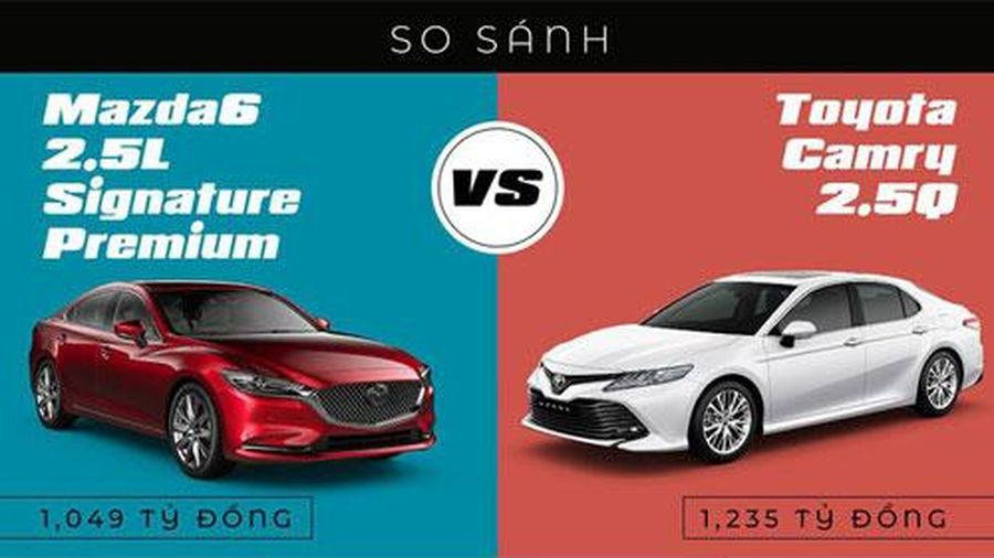 So sánh Toyota Camry với Mazda 6: Chọn sedan hạng D nào?