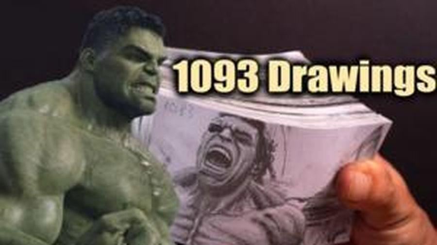 Với 1093 bức hình, cảnh Hulk biến hình trong The Avengers trở thành một flipbook cực chất