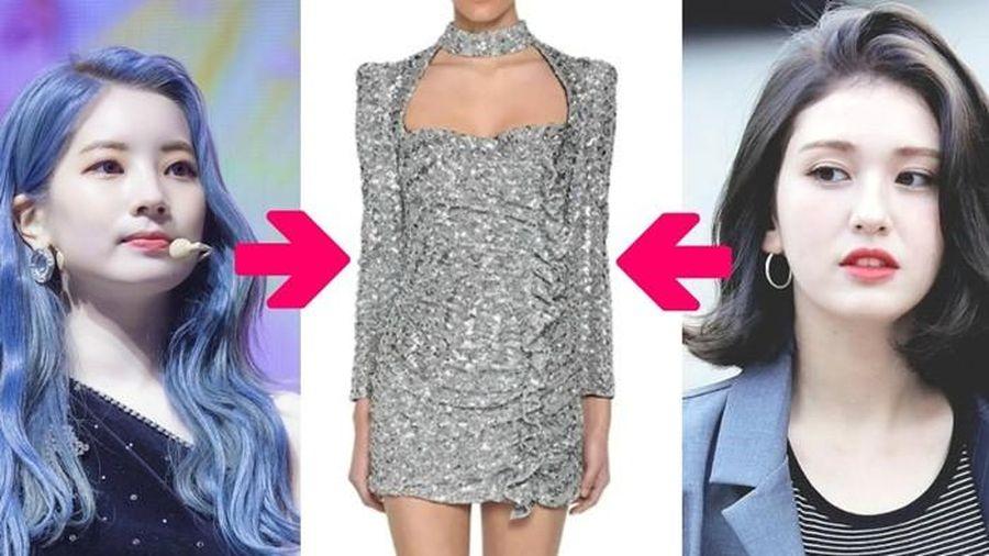 Màn 'đụng hàng' váy lấp lánh của Jeon Somi và Dahyun (TWICE), ai được khen nhiều hơn?