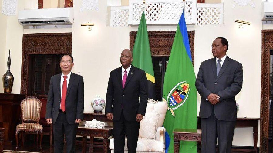 Đại sứ Nguyễn Nam Tiến trình Thư ủy nhiệm lên Tổng thống Tanzania