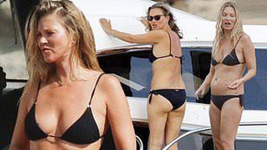 Siêu mẫu lừng danh Kate Moss đi nghỉ với bạn trai kém 13 tuổi, vóc dáng chảy xệ gây sốc