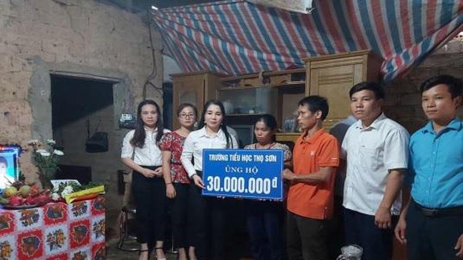 Phú Thọ: Trường tiểu học Thọ Sơn chia sẻ với gia đình học sinh bị đuối nước