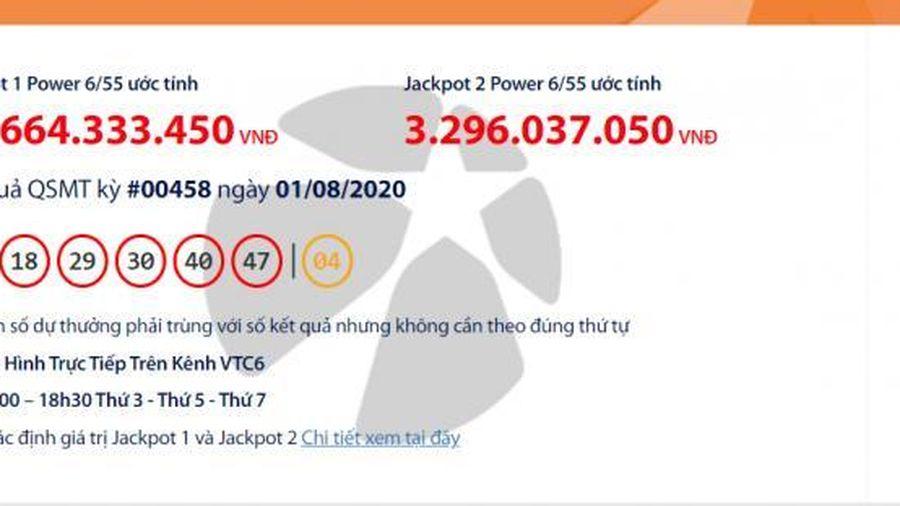 Kết quả xổ số Vietlott Power 6/55 tối 4/8/2020: Lại 'nổ' hơn 35 tỉ đồng?
