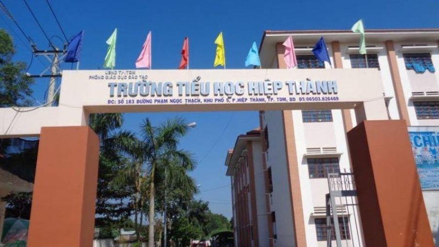 Trường tiểu học tại Bình Dương 'dạy' dấu trừ là dấu nhân