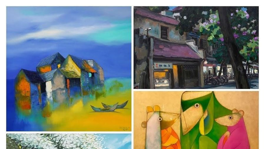 Triển lãm tác phẩm của các họa sĩ đương đại hàng đầu