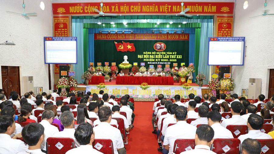 Khai mạc phiên trù bị Đại hội đại biểu Đảng bộ huyện Tân Kỳ, nhiệm kỳ 2020 - 2025