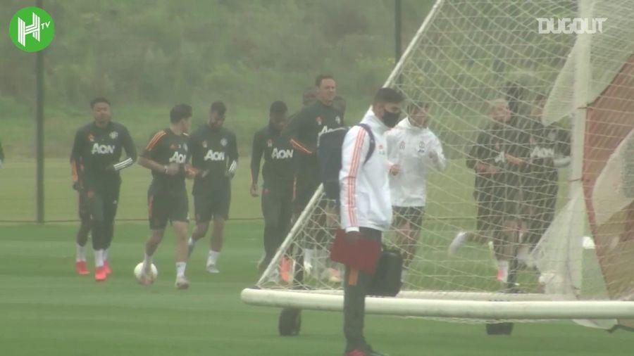 Manchester United thoải mái tập luyện trước trận tái đấu LASK