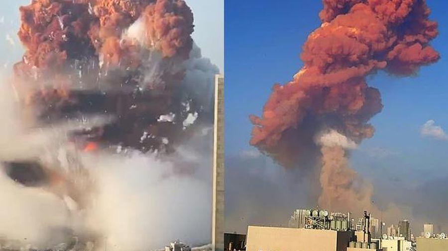 Cảnh tượng kinh hoàng trong vụ nổ làm rung chuyển cả thành phố ở Lebanon, khiến hàng ngàn người thương vong