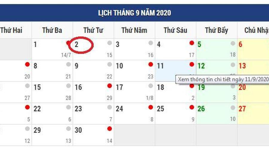 Năm nay, người lao động chỉ được nghỉ 1 ngày dịp Quốc khánh 2-9