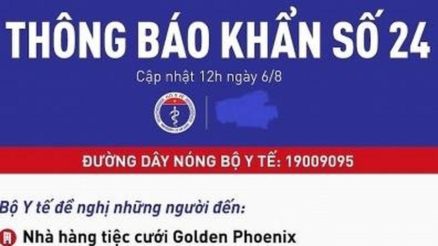 Người dân từng đến 3 nhà hàng tiệc cưới này tại Đà Nẵng cần liên hệ cơ sở y tế gấp