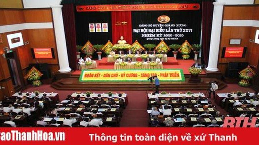 Đại hội đại biểu Đảng bộ huyện Quảng Xương lần thứ XXVI: Đoàn kết - dân chủ - kỷ cương - sáng tạo - phát triển