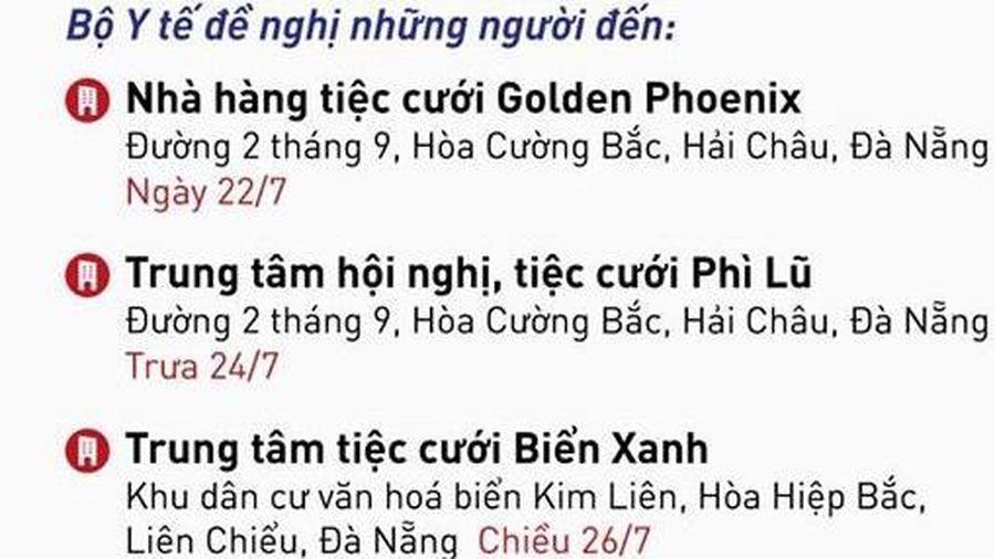 Khẩn: Những người đến 3 địa điểm này ở Đà Nẵng cần liên hệ y tế ngay