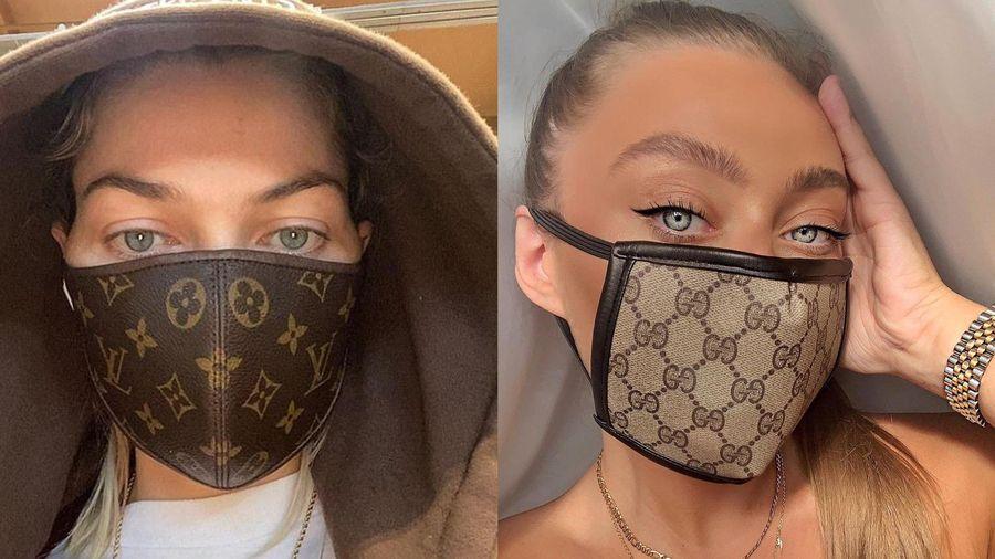 Dân mạng rộ mốt đeo khẩu trang Gucci, Louis Vuitton fake