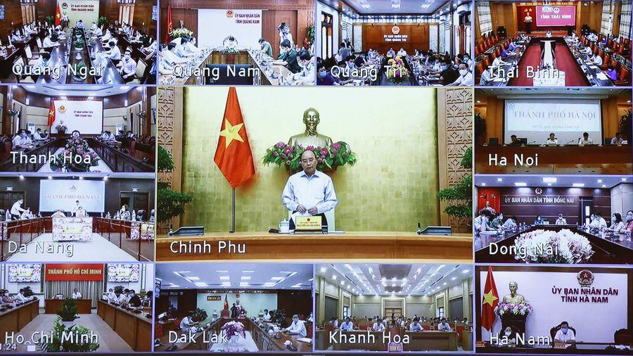 Thủ tướng chủ trì họp trực tuyến toàn quốc về chống dịch