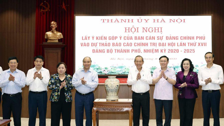 Ban Cán sự Đảng góp ý vào Dự thảo Báo cáo Chính trị của Đảng bộ Hà Nội