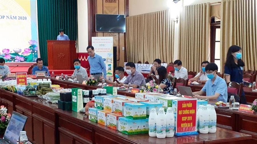 Hà Nội: Huyện Ba Vì đánh giá, phân hạng các sản phẩm OCOP năm 2020