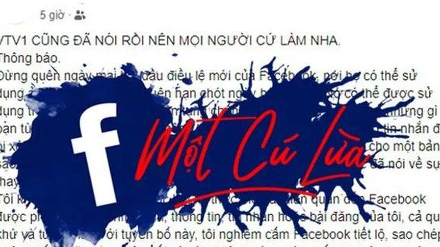 Cảnh báo: 'Facebook tự ý sử dụng ảnh của bạn...' là thông tin giả