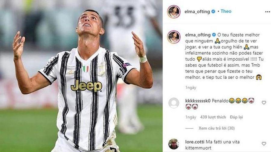 Ronaldo được chị gái an ủi sau khi bị loại ở Champions League