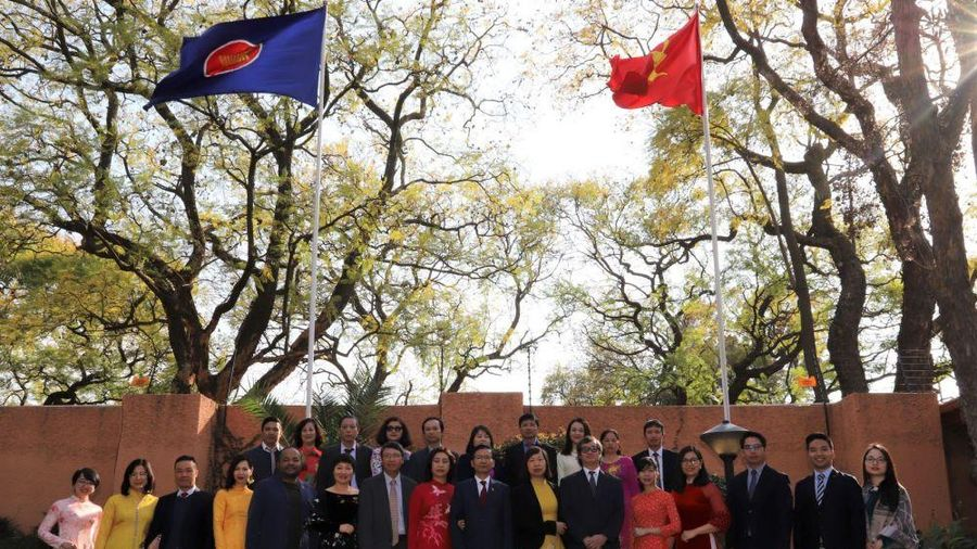 Đại sứ quán Việt Nam tại Nam Phi tổ chức Lễ thượng cờ ASEAN