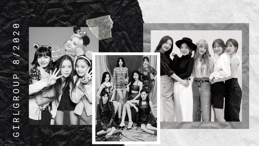BXH thương hiệu girlgroup tháng 8/2020: No.1 của BlackPink 'rung rinh' khi Red Velvet và (G)I-DLE đua nhau tăng điểm ầm ầm
