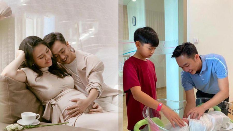 Cường Đô La hạnh phúc thông báo Đàm Thu Trang đã hạ sinh con gái đầu lòng