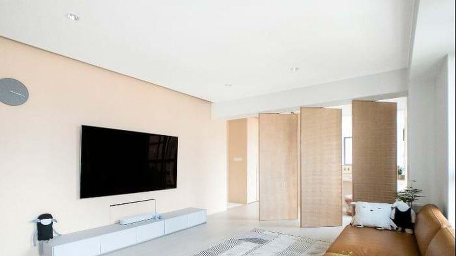 3 phòng ngủ được đập bỏ, căn hộ 92 m2 rộng ngỡ ngàng với hệ thống cửa trượt