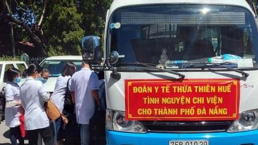 40 bác sĩ, điều dưỡng từ Huế vào Đà Nẵng chống dịch