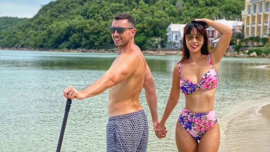 Hà Anh mặc bikini nóng bỏng bên ông xã trong dịp kỷ niệm 4 năm ngày cưới ở Phú Quốc