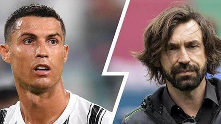 Ronaldo 'tẽn tò' trong lần đầu đối mặt với Pirlo