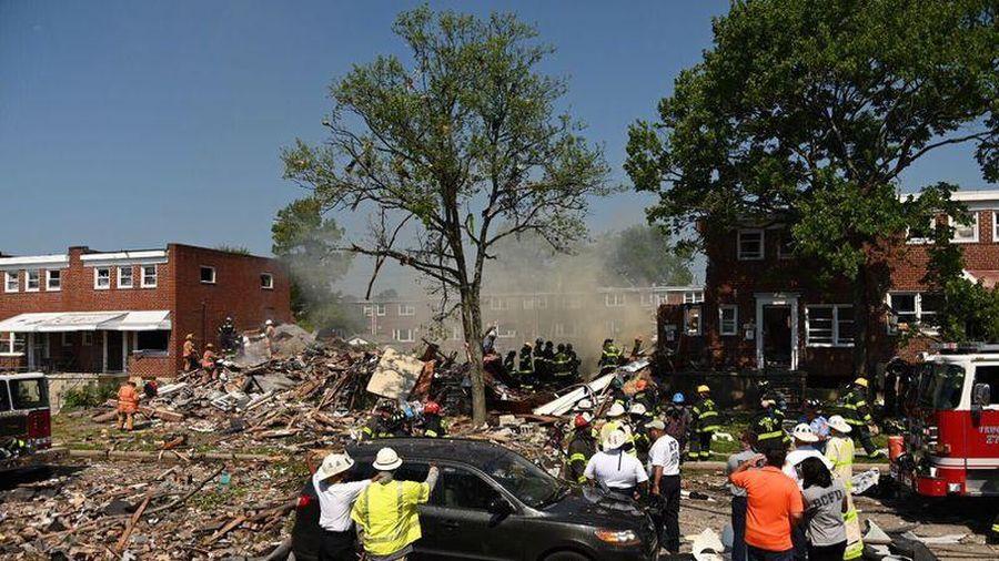 Nổ khí gas ở Mỹ, nhiều người mắc kẹt trong đống đổ nát