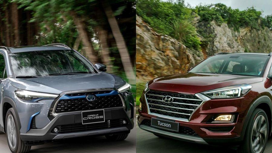 So sánh Toyota Corolla Cross và Hyundai Tucson - SUV tầm giá 1 tỷ đồng