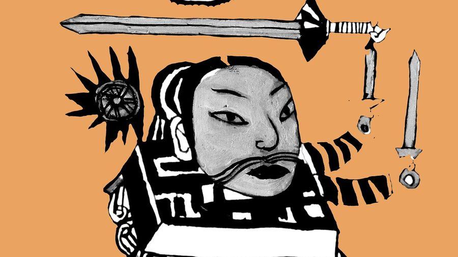Họa sĩ Thành Chương vẽ minh họa cho 'Tướng về hưu'